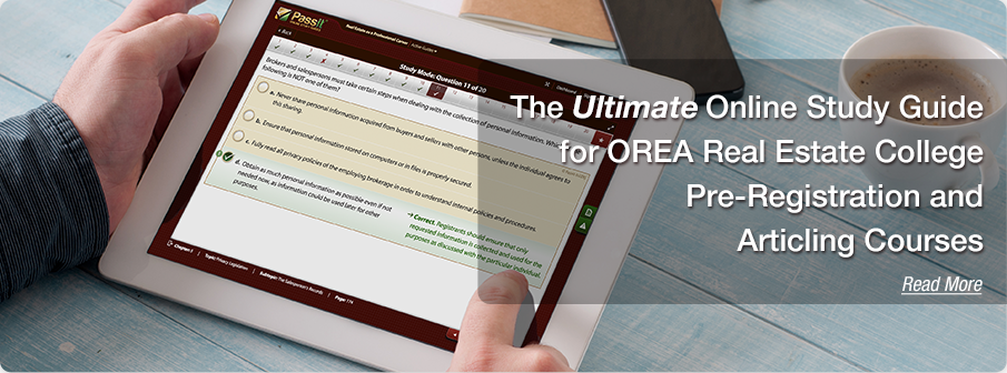The Ultimate Online Study Guide for OREA Real Estate College Pre-Registration and Articling Courses