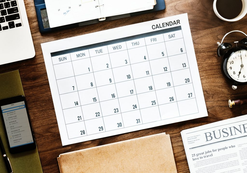 Calendar for Choosing Your Humber Exam Date for Real Estate Essentials