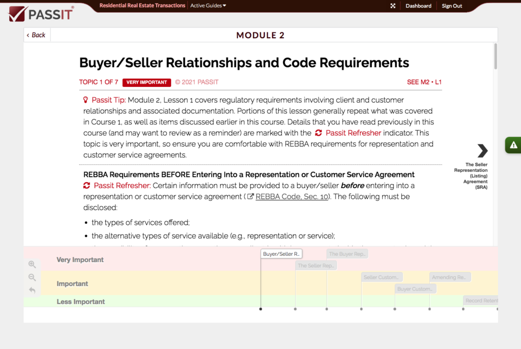 Study Buddy Sample for Humber Course 2: Residential Real Estate Transactions