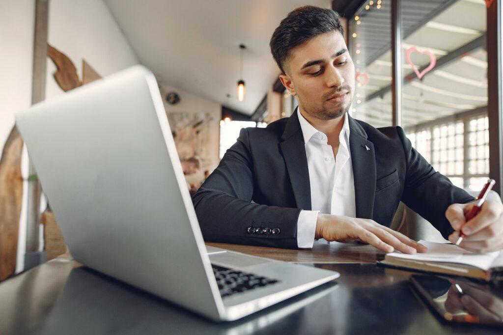 Salesperson Preparing For The Humber Broker Qualifying Exam
